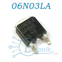 IPD06N03LA, MOSFET транзистор N-канал, 25В 50А, TO252