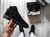 Женские Кроссовки Adidas Tubular-Invader Strap Triple Black 5e6ea61feb5c9