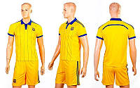 Форма футбольная детская УКРАИНА  (полиэстер, р-р XS-XL, желтый), фото 1
