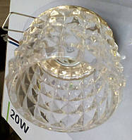 АКЦИЯ. Точечный светильник Feron JD116 прозрачный хром ( остатки уточняйте по телефону)