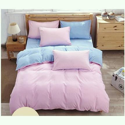 Постельное белье Однотонный микс розовый + голубой поплин ТМ Царский дом  (Двуспальный), фото 2