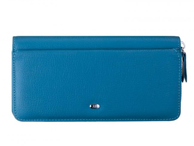 Женский клатч ST в голубом цвете (Sergio Torretti) с дополнительным отделом на передней стенке.