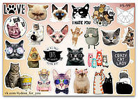 Stickers Pack Cats, Котики #99, фото 1