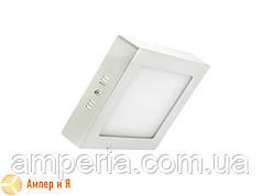 Светильник накладной светодиодный LED-NGS-02S 4500K 6W(вт), квадрат NIGAS
