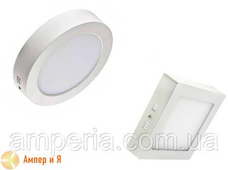 Светильник накладной светодиодный LED-NGS-02S 4500K 12W(вт), квадрат NIGAS, фото 2