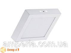 Светильник накладной светодиодный LED-NGS-02S 4500K 12W(вт), квадрат NIGAS
