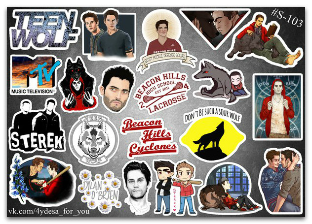 Stickers Pack Teen Wolf, Сериал Волчонок #103