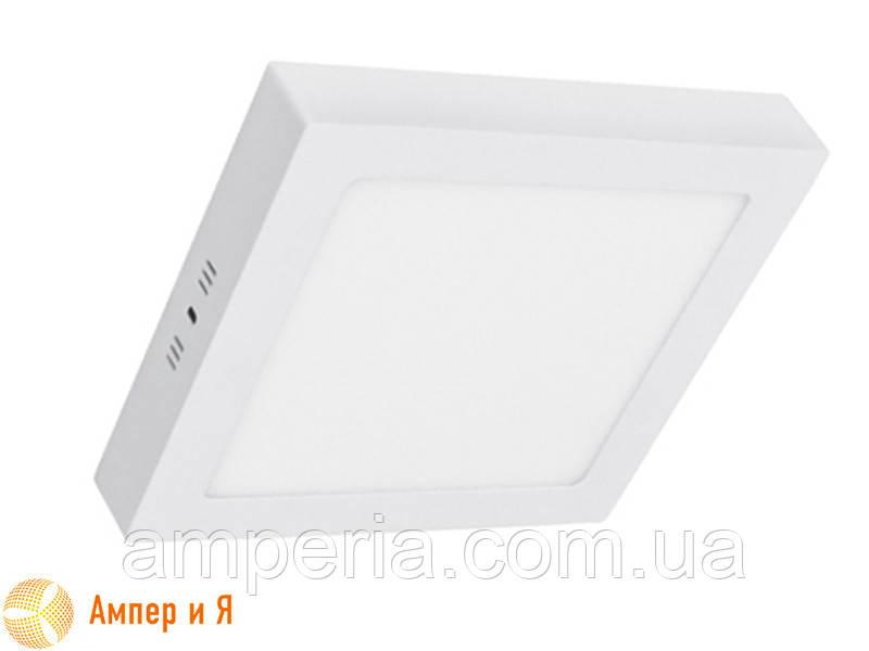Светильник накладной светодиодный LED-NGS-02S 4500K 24W(вт), квадрат NIGAS