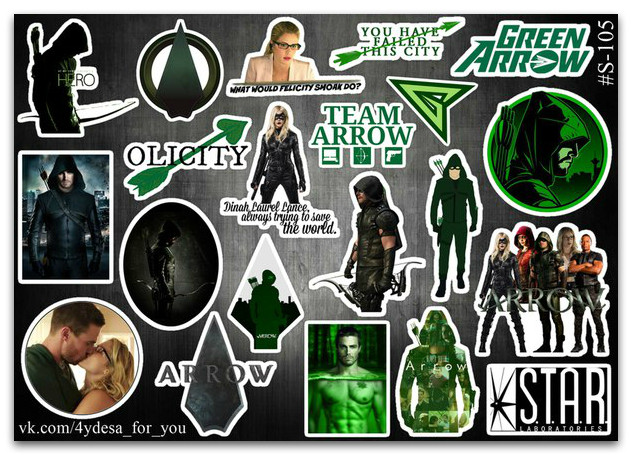 Stickers Pack Arrow, Стрела #105