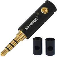 """Штекер 3,5мм 4C """"SHURE"""", корпус металл, чёрный"""