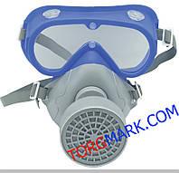 Комплект очки с респиратором Сталкер 1 (аналог 3М модель 3200)