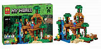Конструктор Bela 10471 Домик на дереве в джунглях Minecraft (аналог LEGO Minecraft 21125) 718 деталей, фото 1