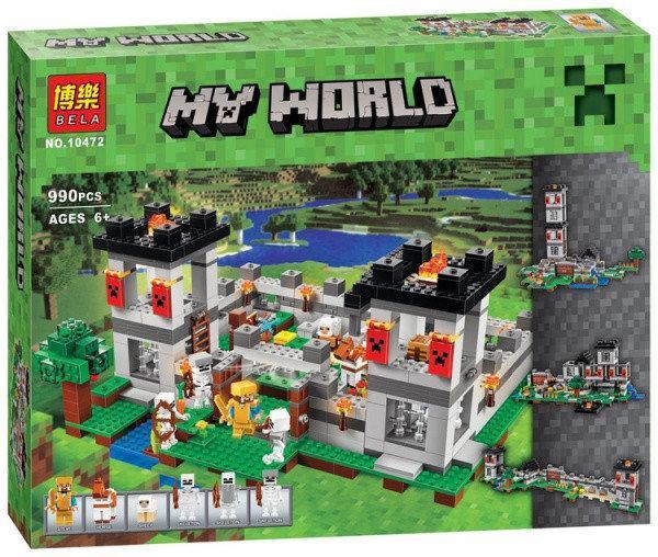 """Конструктор Bela 10472 Minecraft \ Майнкрафт (аналог Lego 21127) """"Крепость"""", 990 деталей"""