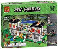 """Конструктор Bela 10472 Minecraft \ Майнкрафт (аналог Lego 21127) """"Крепость"""", 990 деталей, фото 1"""
