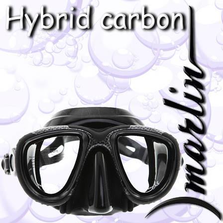 Маска Marlin HYBRID karbon  (рамка окрашена под карбон), фото 2
