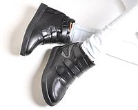 Модные сникерсы на 3х липучках BLACK