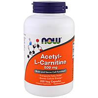 Жиросжигатель NOW Acetyl-L-Carnitine 500 mg (100 veg caps)