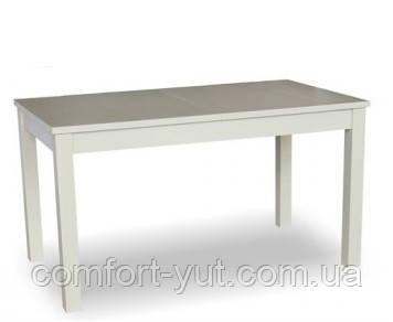 Стол Модерн Плюс белый 160(+40+40)*90 обеденный раскладной деревянный