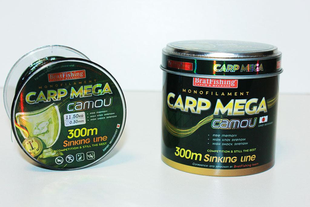Волосінь Carp Mega Camou 300m (потопаюча)