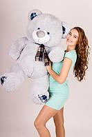 Мягкая игрушка медведь Плюша 130 см серый
