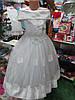 Белое детское бальное платье на 6 - 9 лет