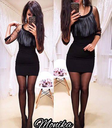 Черное платье приталенное, фото 2
