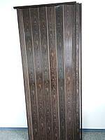 Дверь гармошка межкомнатная глухая метровая, орех 7103, 1000*2030*6 мм
