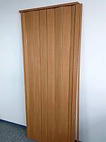 Дверь гармошка межкомнатная глухая, вишня 501,810х2030х6мм
