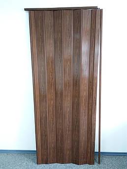 Двери гармошка глухая дуб 7036, 81*203*0,6 см, доставка по Украине