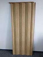 Двери гармошка глухая бук матовый 803, 81*203*0,6см, доставка по Украине