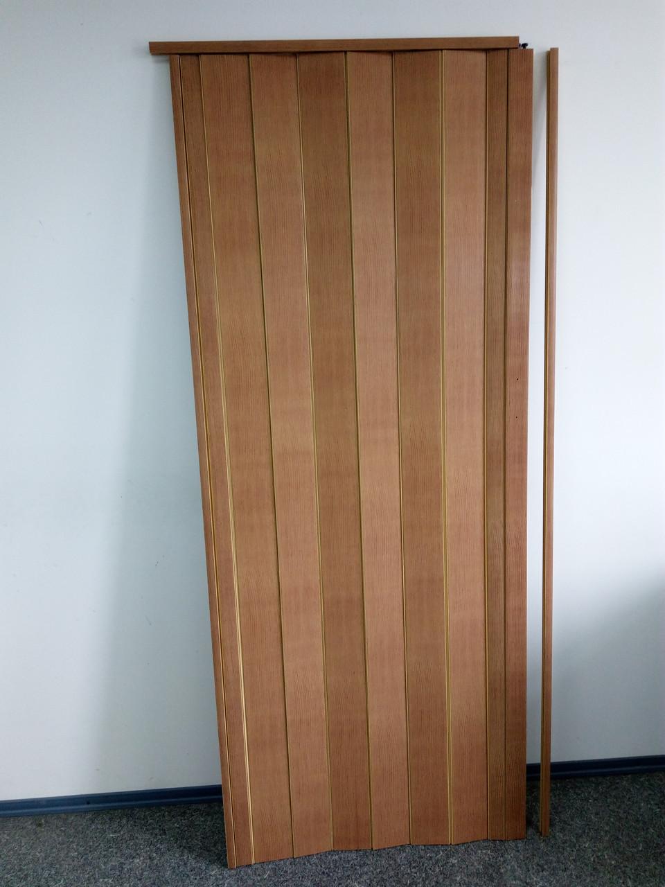 Дверь гармошка межкомнатная глухая, бук 503, 810*2030*6 мм