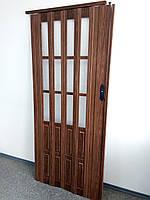Дверь раздвижная полуостекленные  дуб 7036,860х2030х12мм