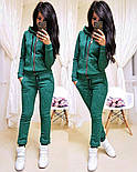 Женский модный теплый костюм на флисе: толстовка на молнии и штаны (5 цветов), фото 5