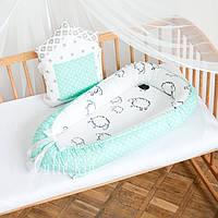 """Гнездышко-кокон для новорожденных """"Mint and lamb"""""""