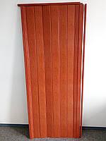 Двери гармошка глухая ольха красная 266, 810х2030х6мм, доставка по Украине