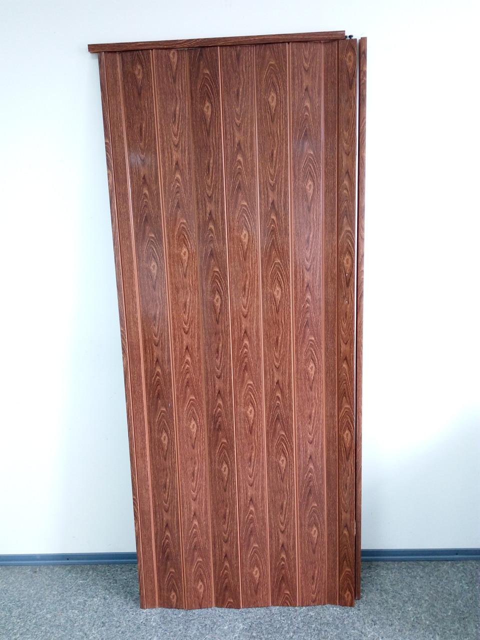 Дверь гармошка межкомнатная глухая, черешня 7107, 810*2030*6мм