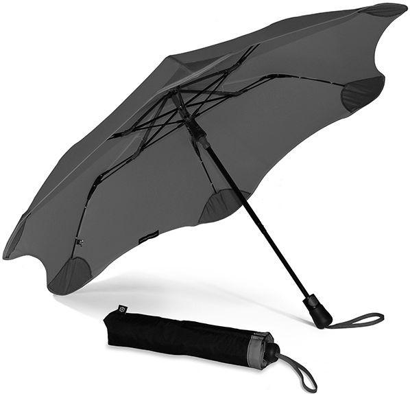 Противоштормовой зонт женский полуавтомат BLUNT Bl-xs-charcoal