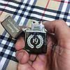 Импульсная USB-зажигалка с нанесения гравировки. Черная