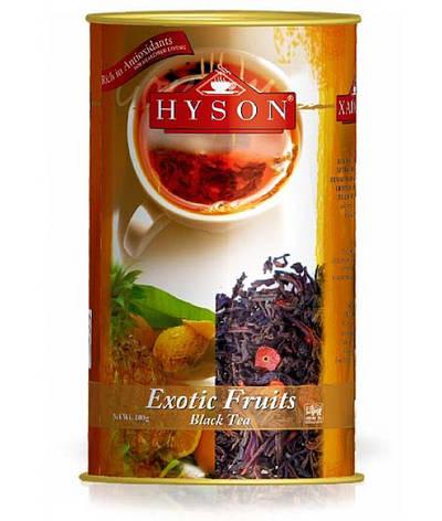 """Чай """"Hyson"""" Exotic Fruits (Экзотические фрукты) 100 г (черный чай с добавлением фруктом и ягод), фото 2"""