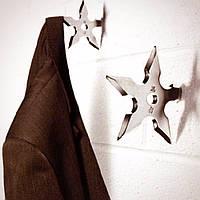 Вешалка в форме сюрикена! Звездочка ниндзя для полотенца!, фото 1