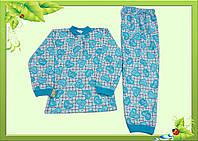 Пижама детская с начесом, для девочки, на кнопочках