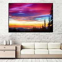 Картина - красочный закат над городом Колорадо