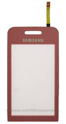 Тачскрин (сенсор) Samsung S5230 Star ORIG, pink (розовый) , фото 2