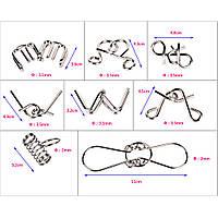 Металлические головоломки: набор 8 разных!