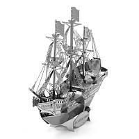 Металлическая сборная модель: корабль парусник! Головоломка-конструктор!