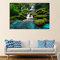 Картина - водопад в лесу Тайланда