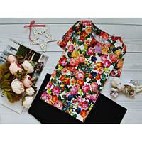 Блуза с ярким принтом: дары флоры