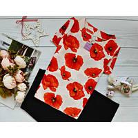 Блуза с ярким принтом: маки