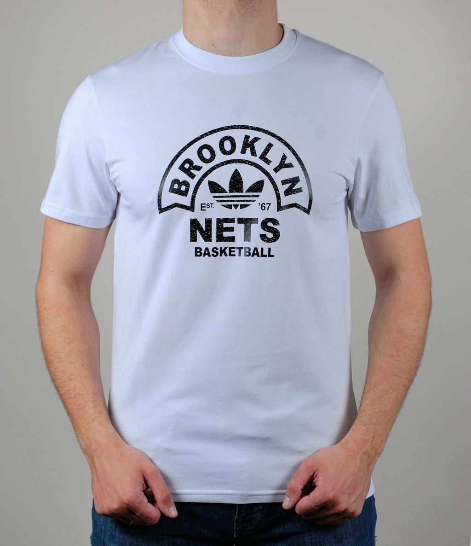 ea2b080fe56b0 Мужская спортивная футболка Adidas Brooklyn Nets - Интернет-магазин  zakyt.com - ЗАКУТКОМ.