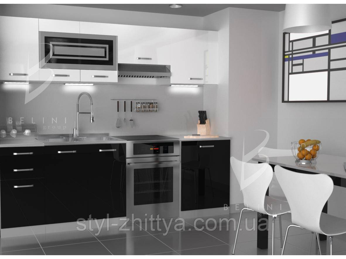 Глянцеві меблі для кухні Belini INFINITY 240 см